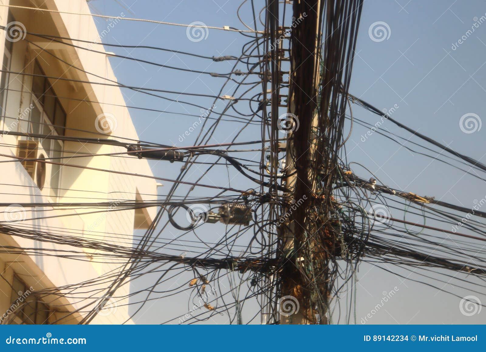 Power Poles And Many Telephone Lines. Stock Photo - Image of many ...