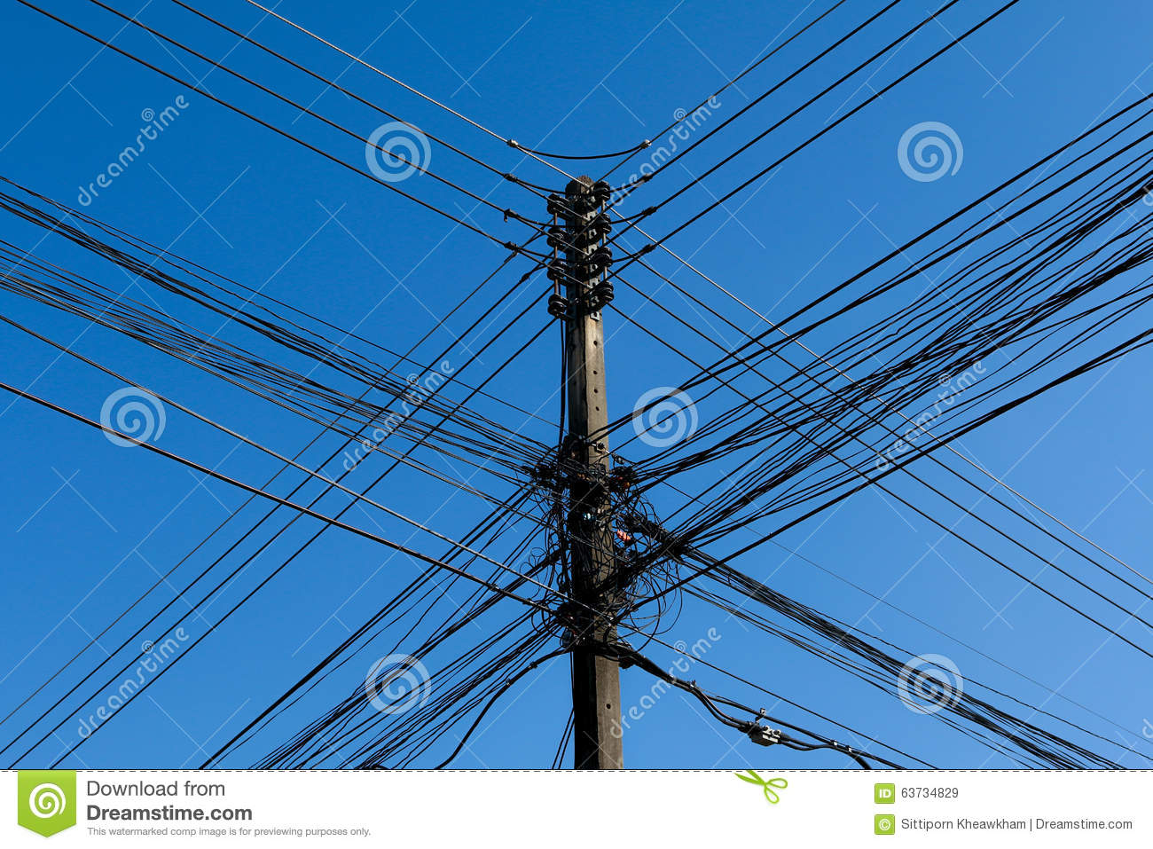 Electric Poles Power Lines : Power poles and lines stock photo image