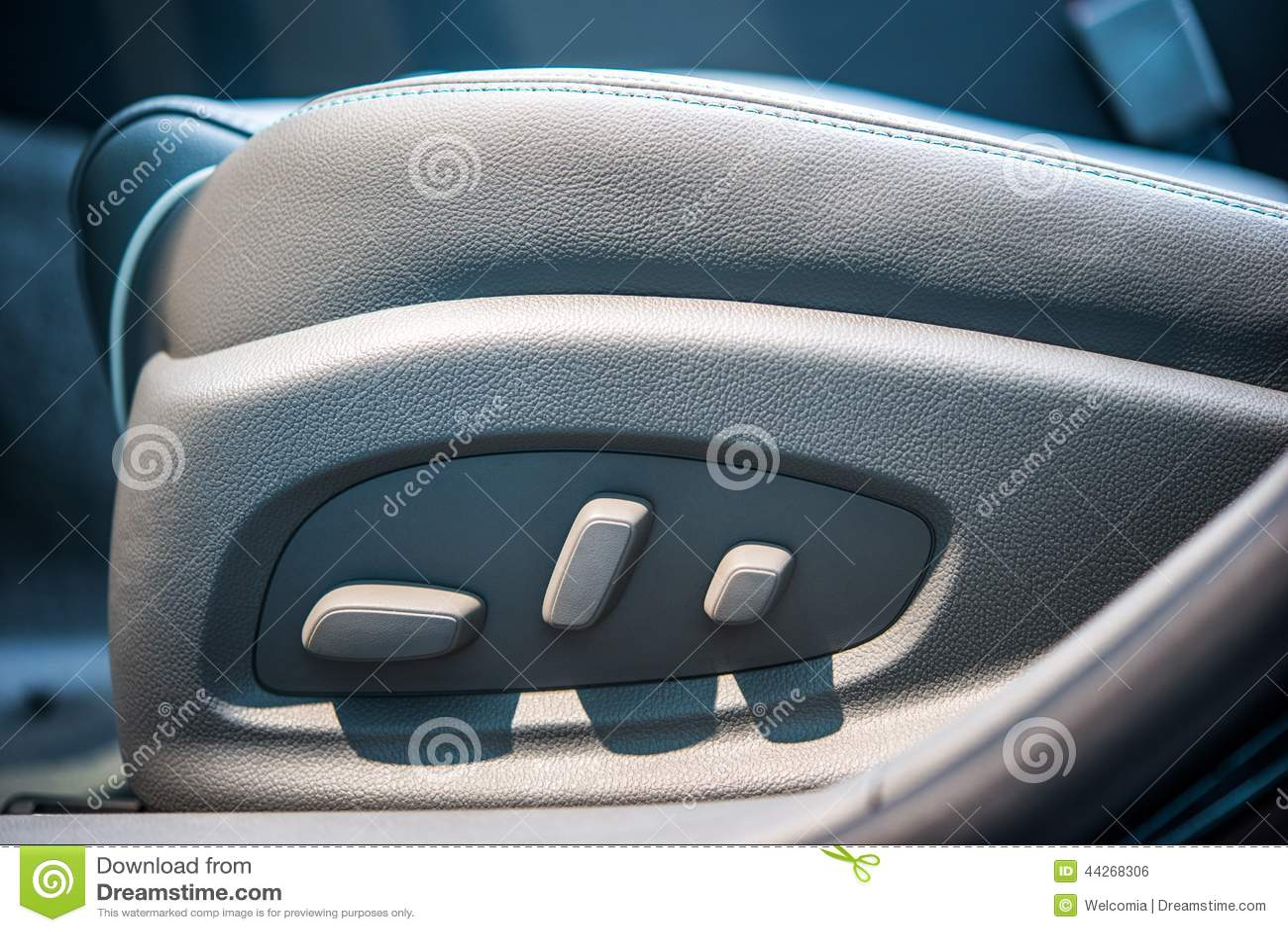 car seat adjustment royalty free stock photography. Black Bedroom Furniture Sets. Home Design Ideas