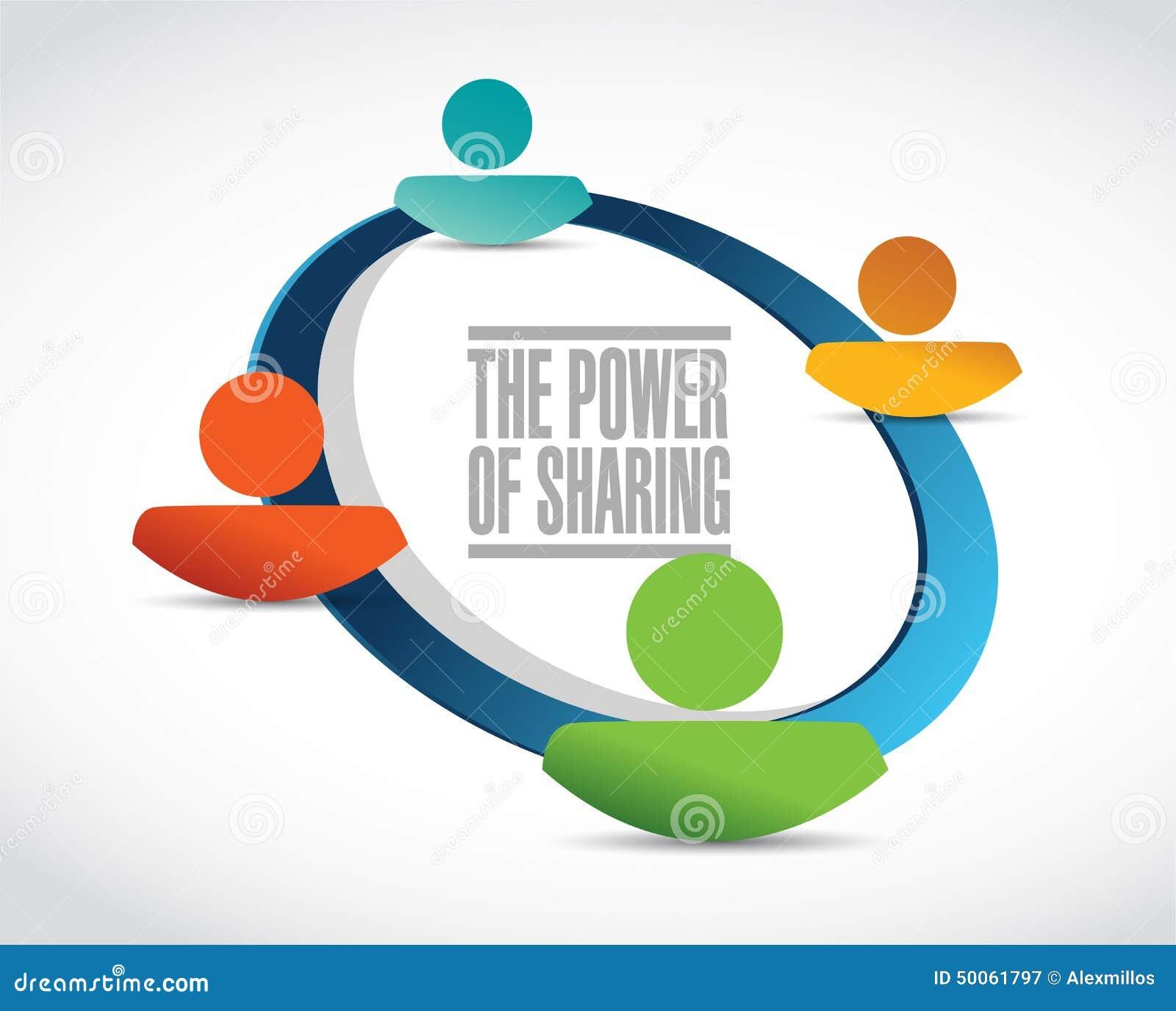 The Power Of Sharing Team Illustration Stock Illustration