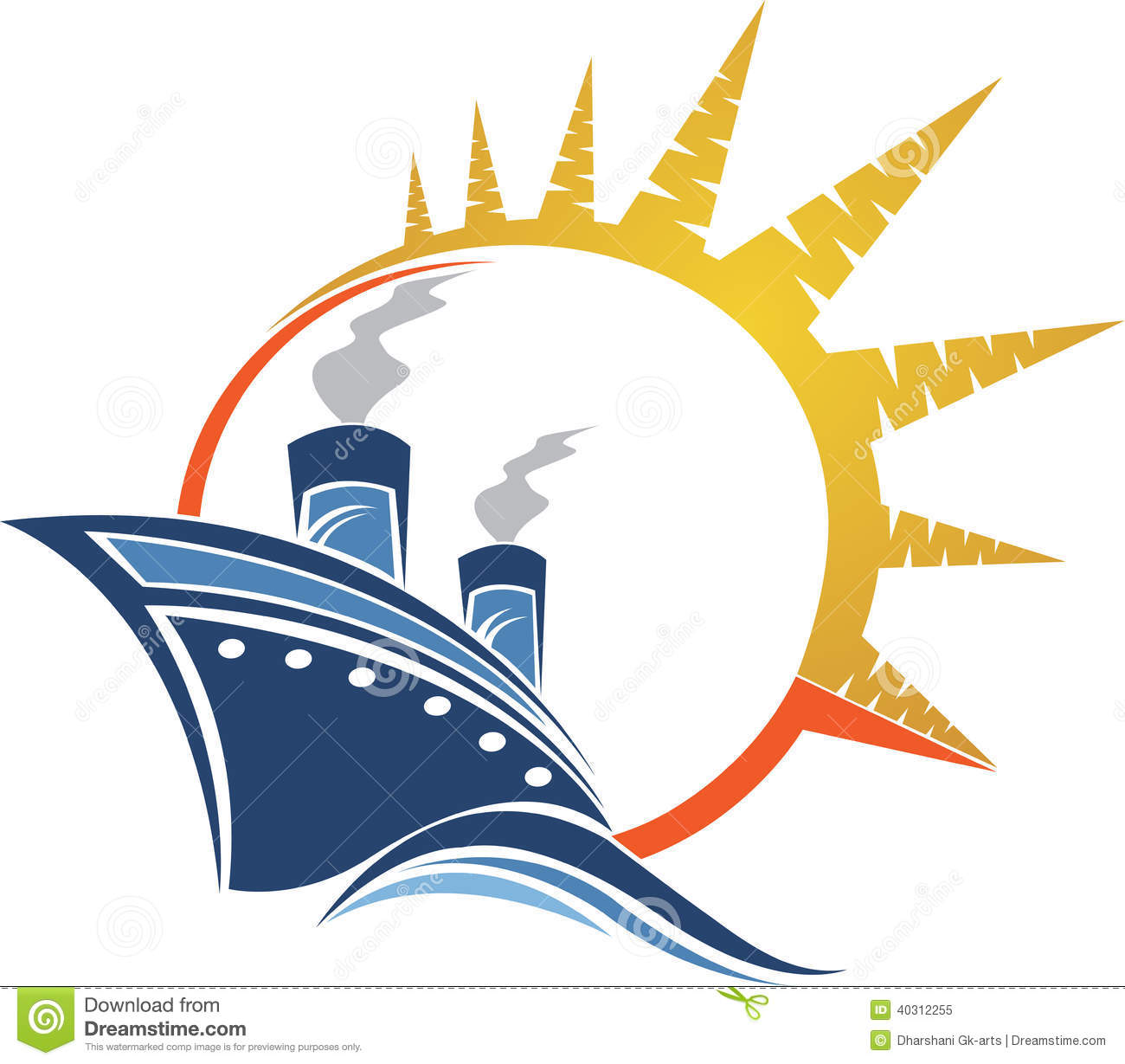 Power Ship Logo Stock Vector Image 40312255