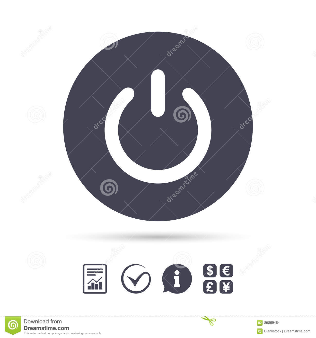 Power Sign Icon. Switch On Symbol. Stock Vector - Illustration of ...