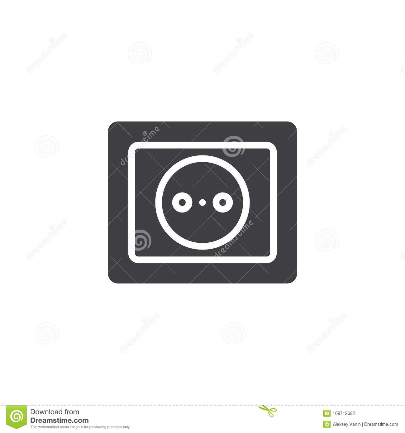 Power Socket Icon Vector Stock Vector Illustration Of Outlet