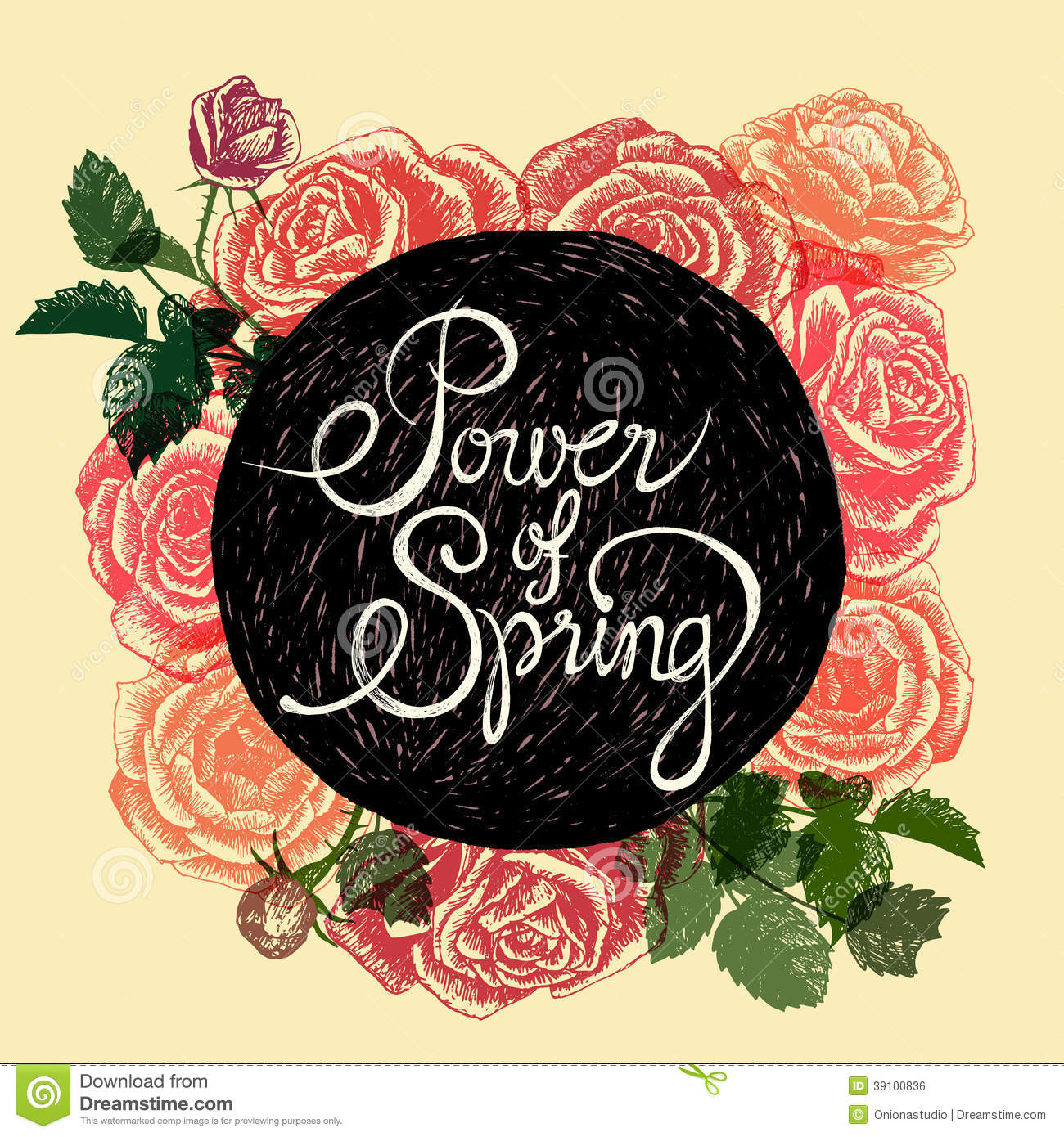 Power of spring flowers quote stock vector image