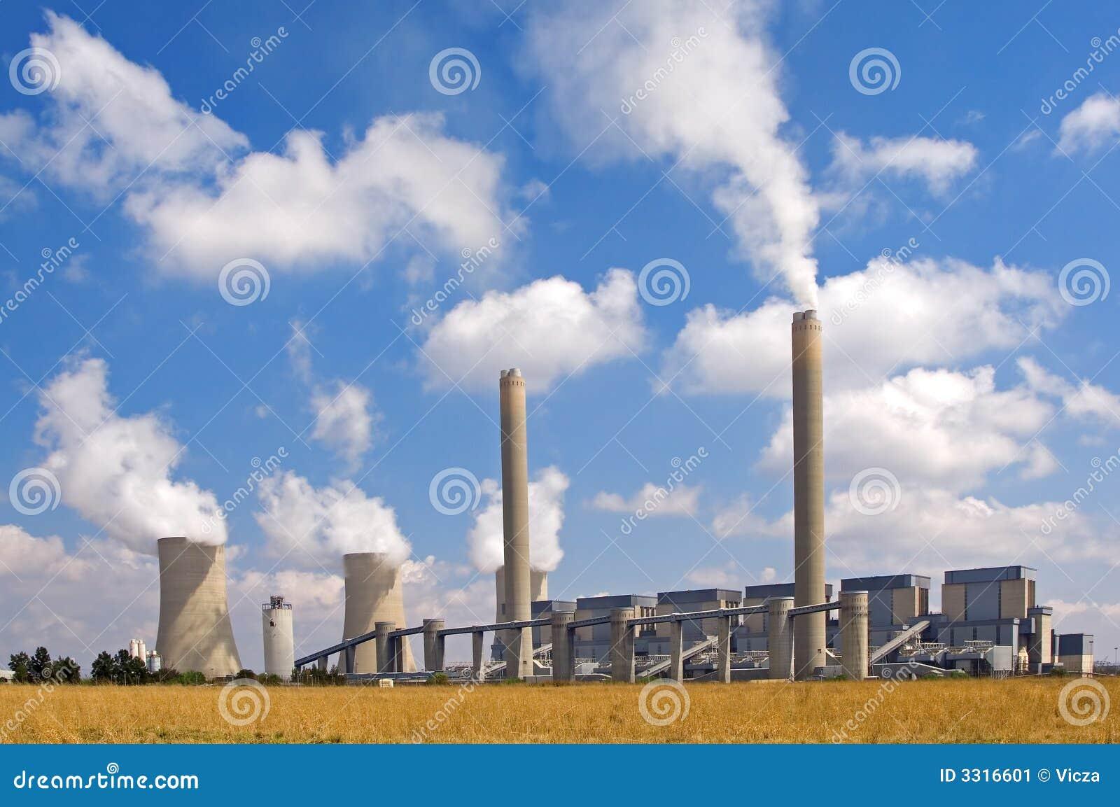 Power Station Landscape Stock Image Image 3316601