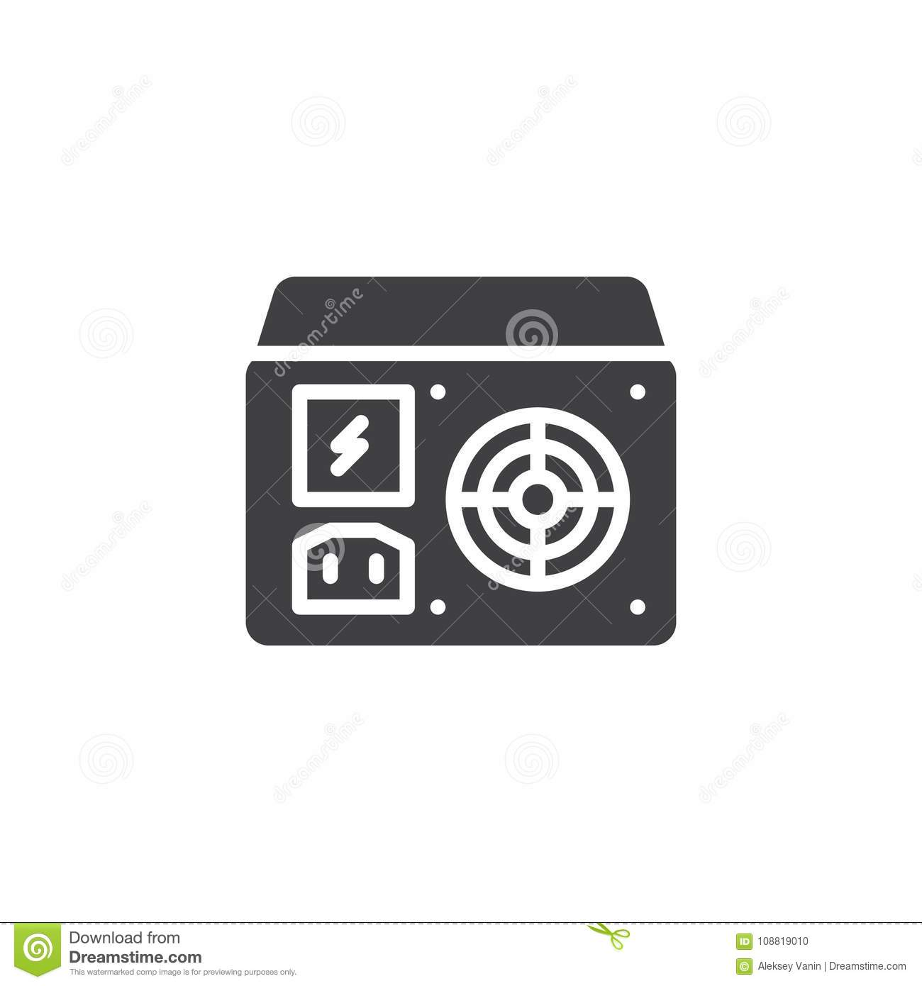 Power Supply Unit Icon Vector Stock Vector Illustration Of Vector