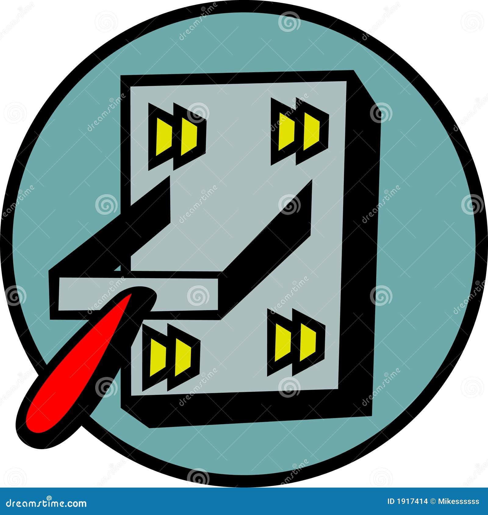 power switch vector illustration stock images image 1917414. Black Bedroom Furniture Sets. Home Design Ideas
