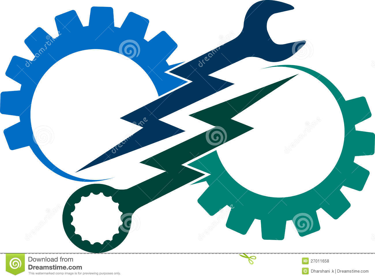 Power Tool Logo Stock Vector Image Of Element Decoration