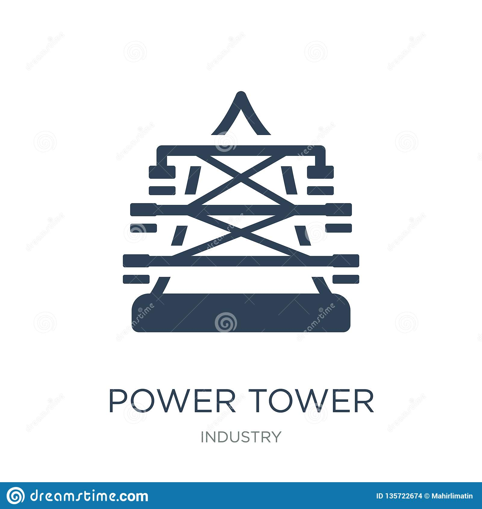 power tower icon in trendy design style. power tower icon isolated on white background. power tower vector icon simple and modern