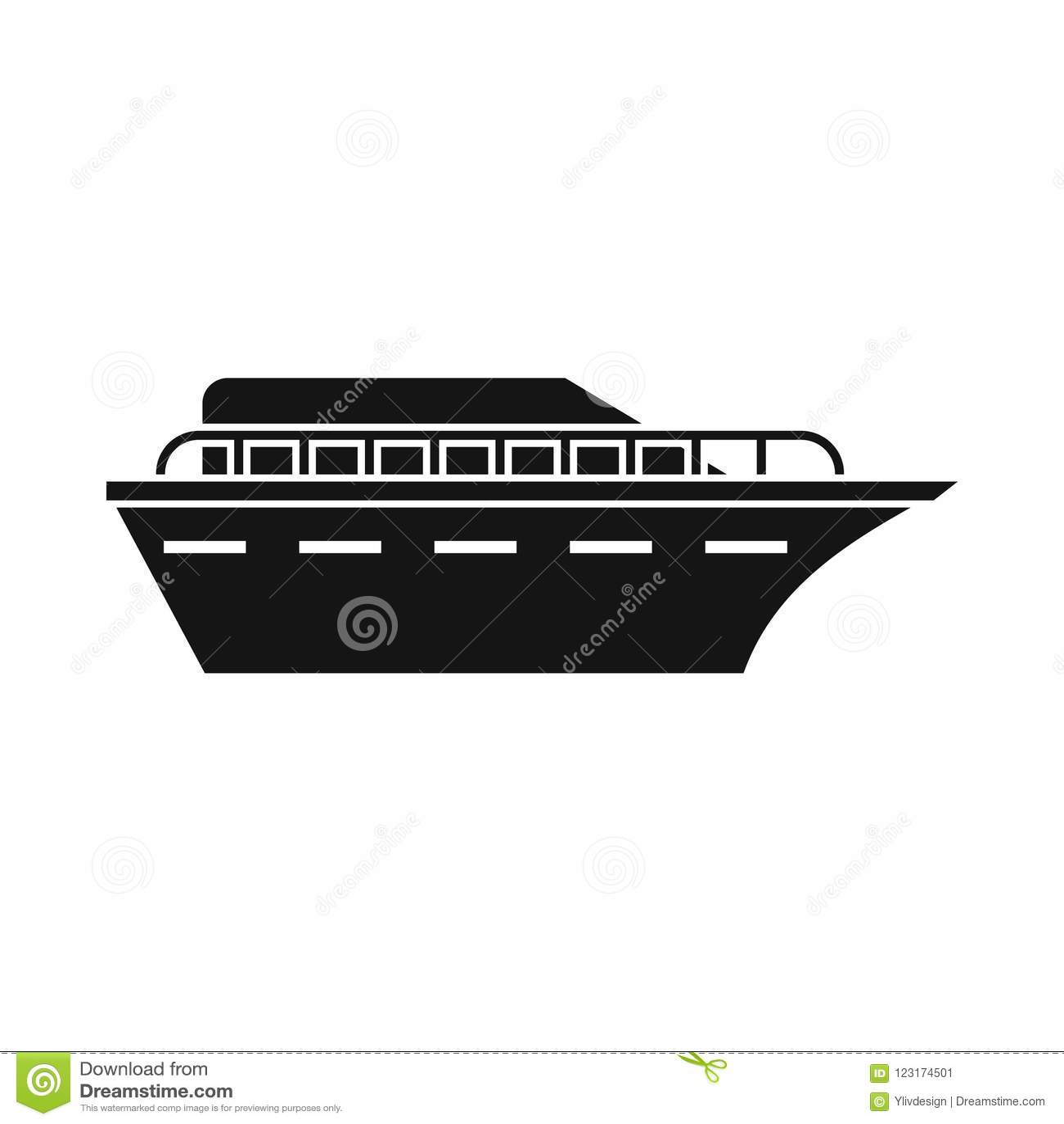 Powerboatsymbol, enkel stil