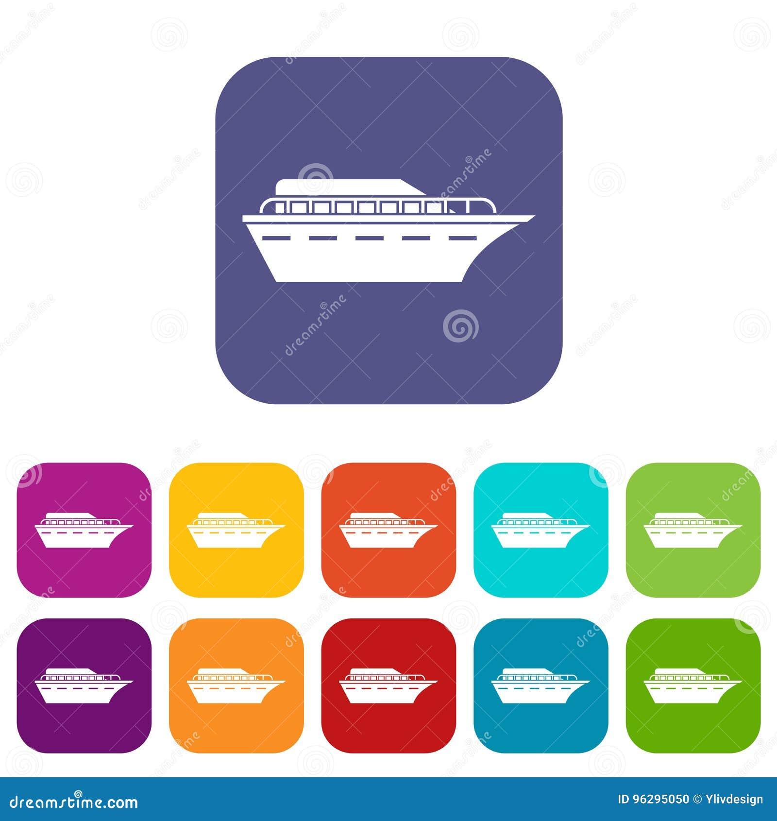 Powerboatsymbolsuppsättning