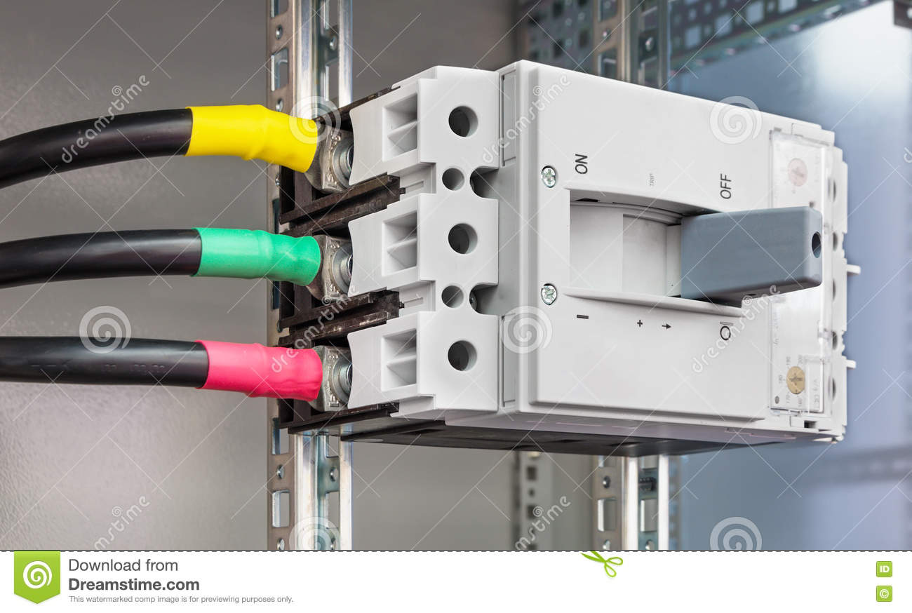 Circuit Breaker Cabinet Powerful Block Electrical Circuit Breaker Stock Photo Image