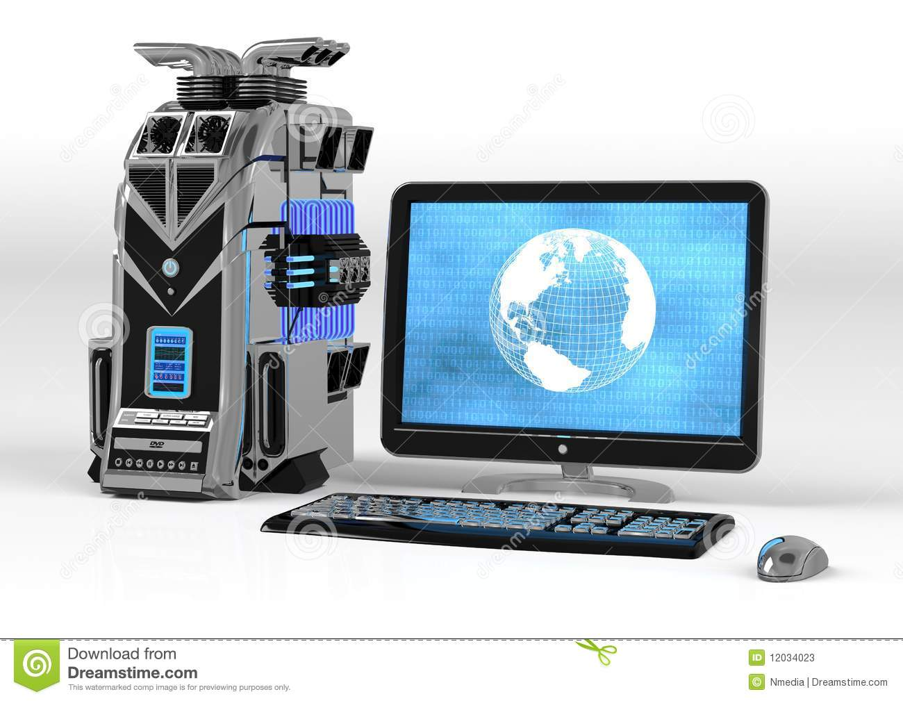 powerful computer system stock photos image 12034023