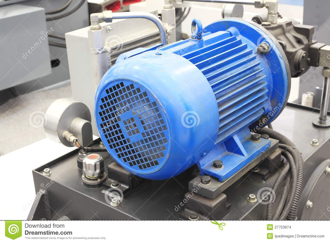 Powerful Electric Motors For Industrial Equipment Stock