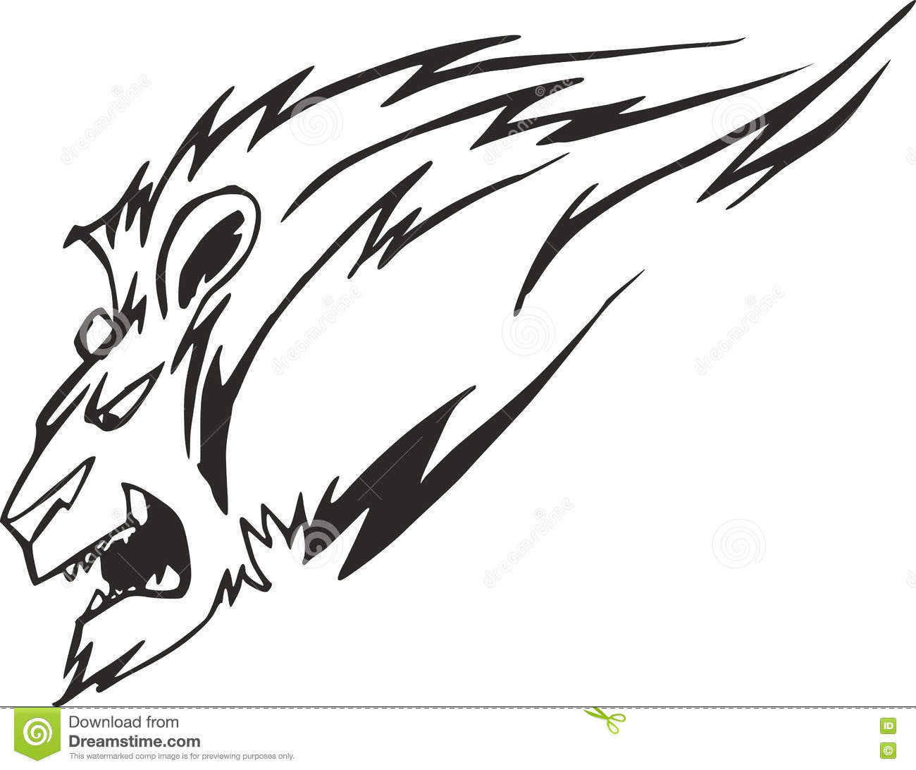 Powerful Lion Head Stock Vector Illustration Of Motion 77657981