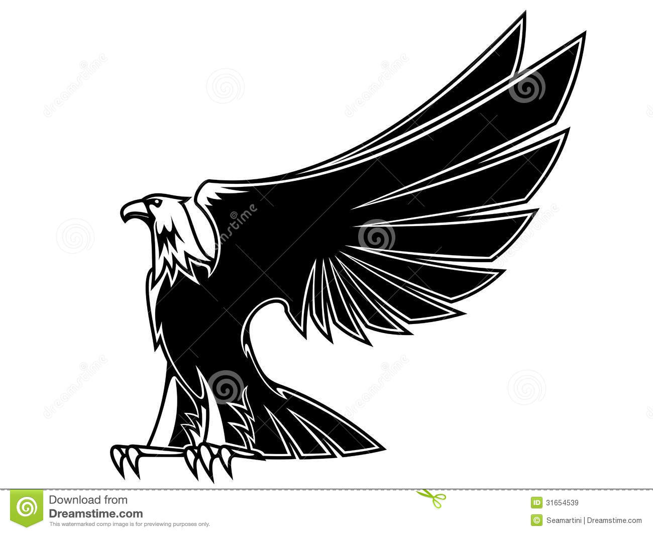 powerful and majestic eagle royalty free stock images