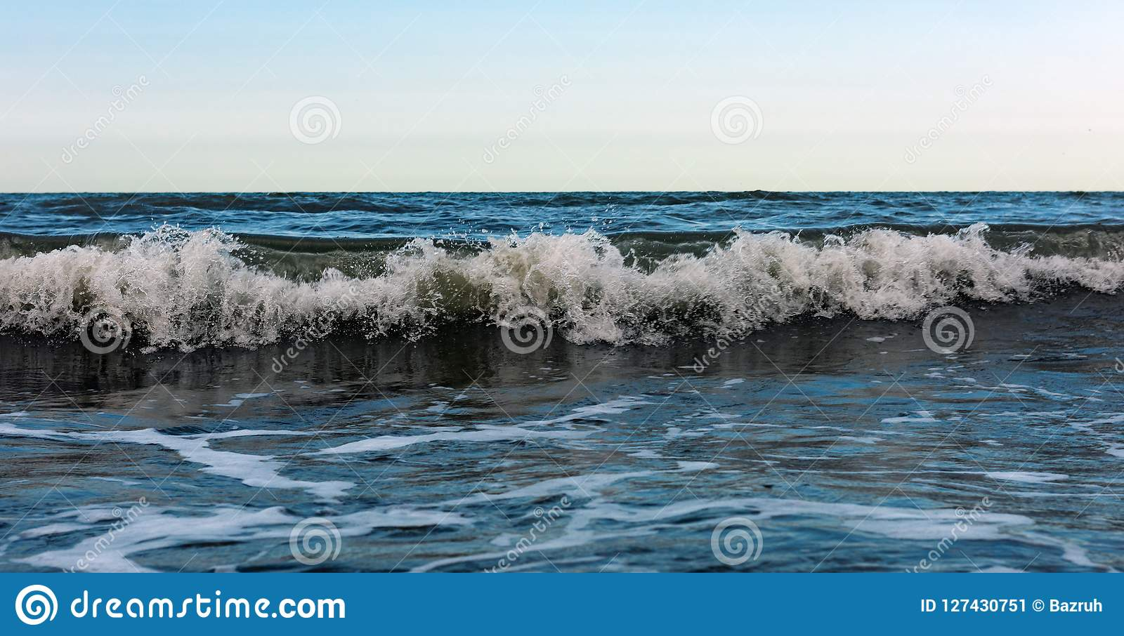 Powerful Sea Waves Splash, Natural Background Stock Image   Image ...