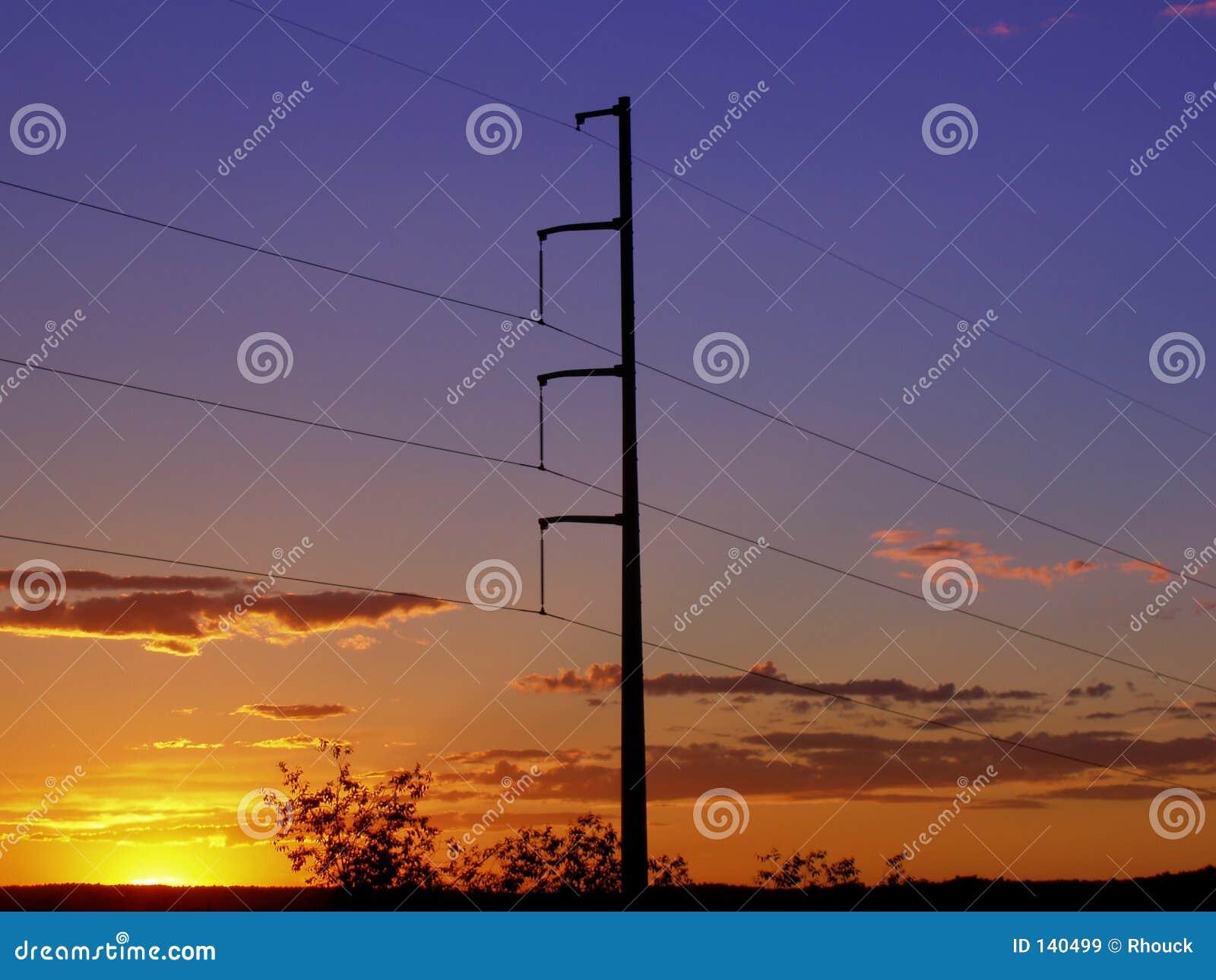 Powerlines słońca