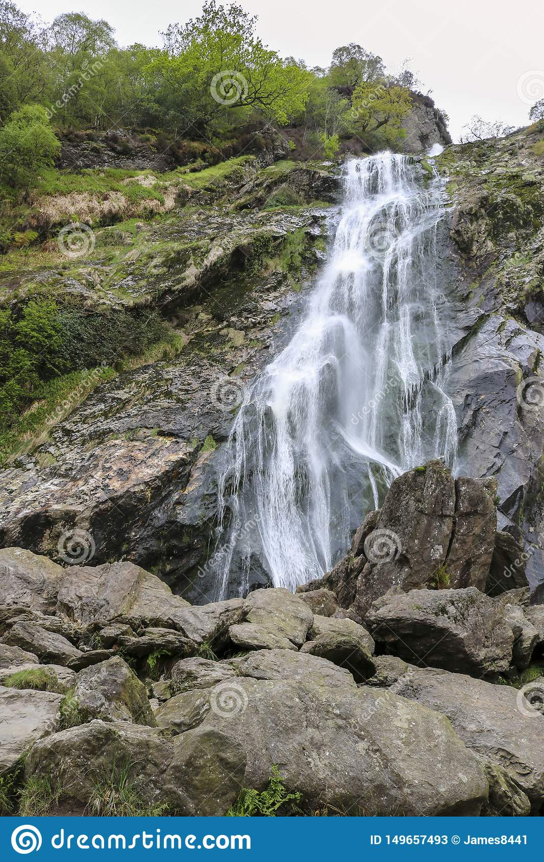 Powerscourt瀑布,威克洛,爱尔兰