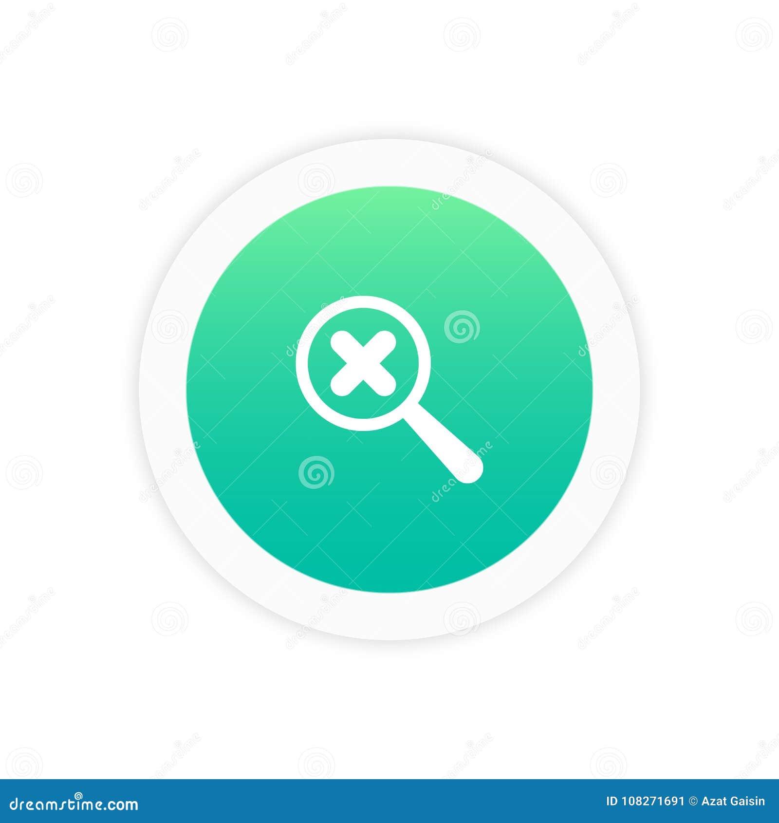 Powiększać - szkło z crosscheck oceny ikoną