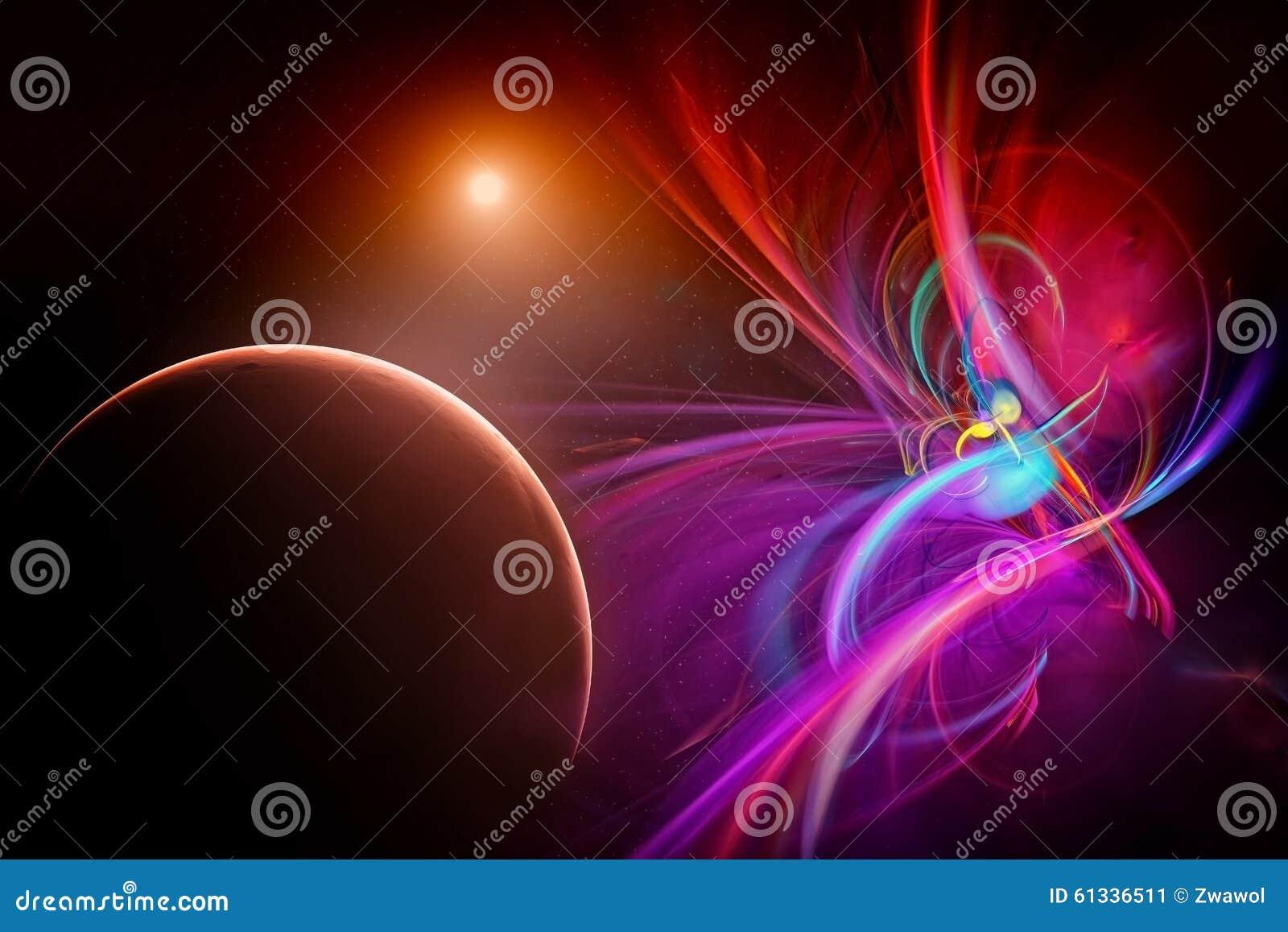 Powieściowa przestrzeń z planetami