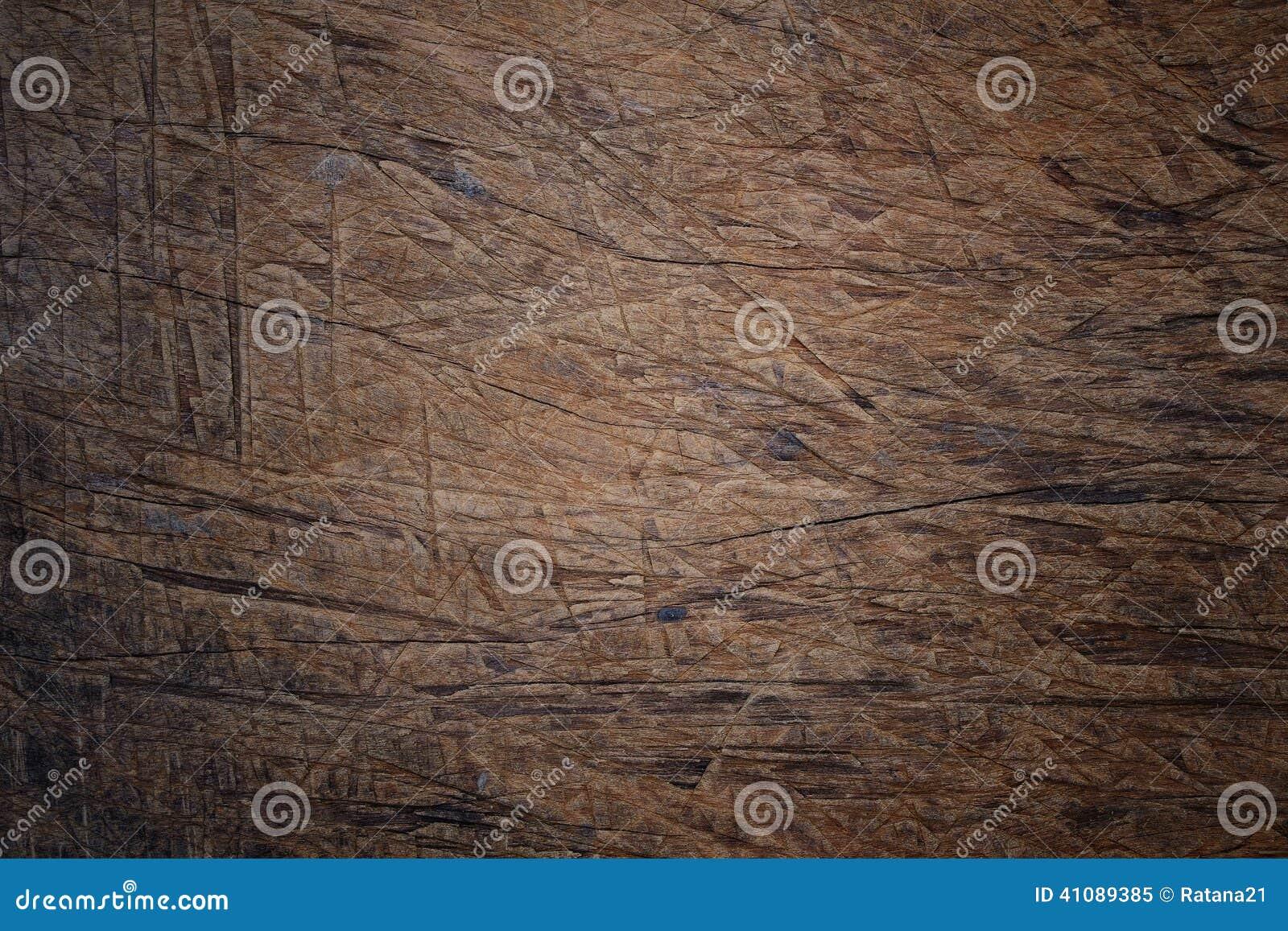 Powierzchnia stary porysowany drewno