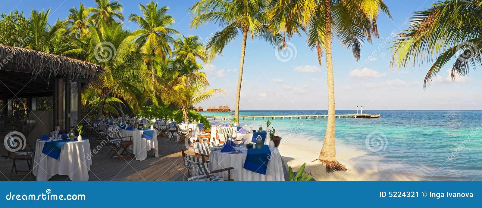 Powietrze otwarte panoramiczny widok restauracji
