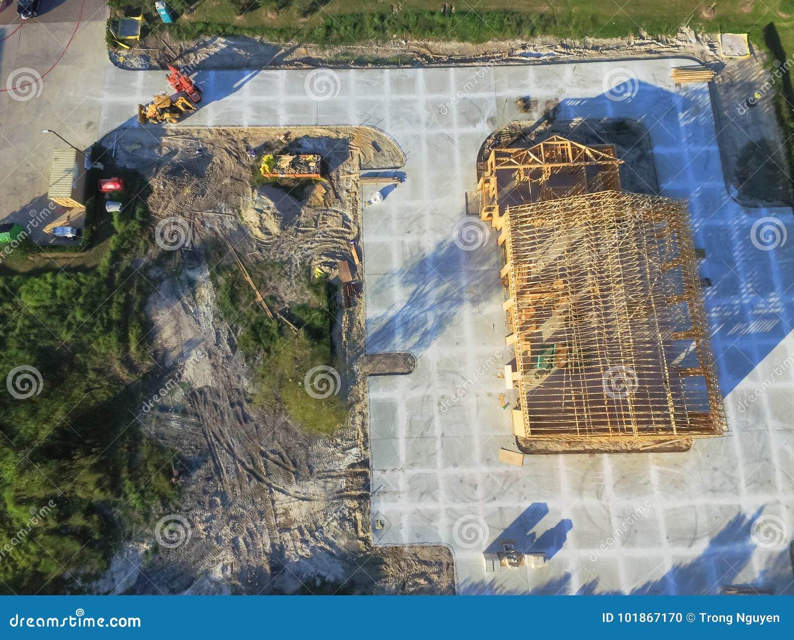 Powietrzna drewniana domowa handlowa budynek budowa