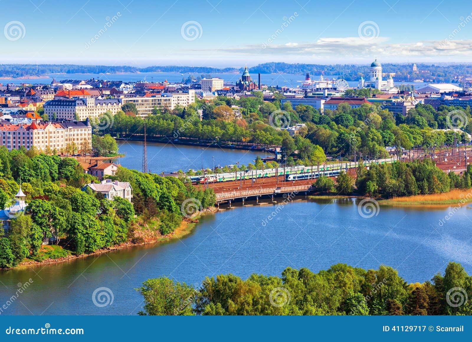 Powietrzna panorama Helsinki, Finlandia