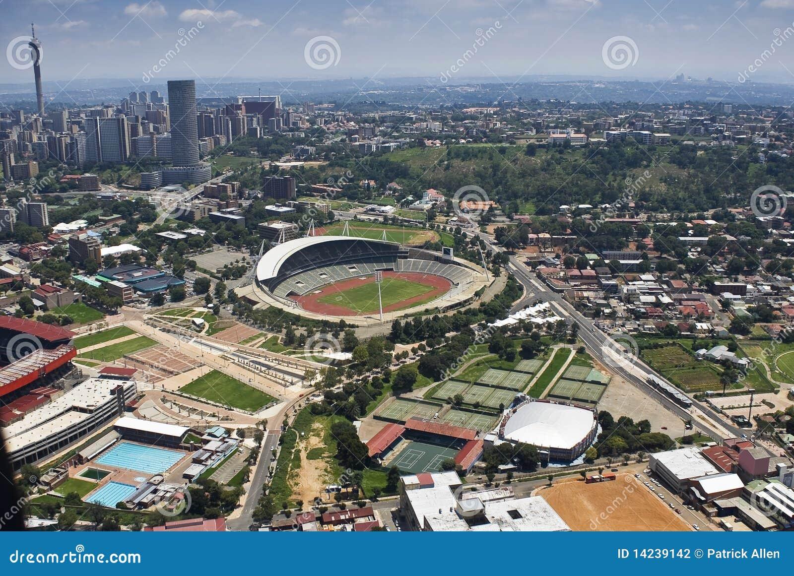 Powietrzny Johannesburg stadium widok