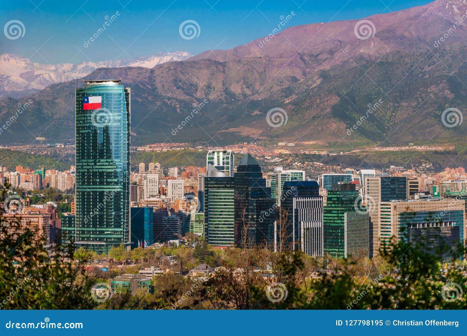 Powietrzny miasto widok Santiago Chile