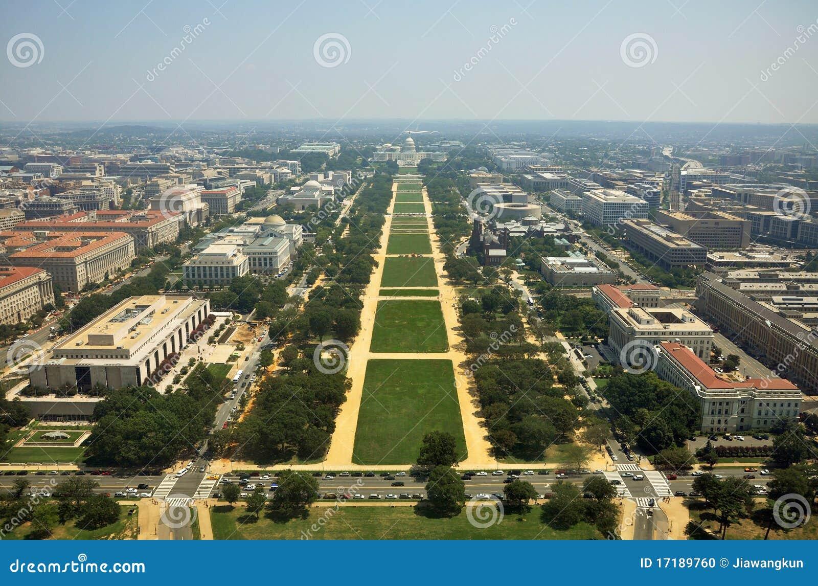 Powietrzny pomnikowy widok Washington