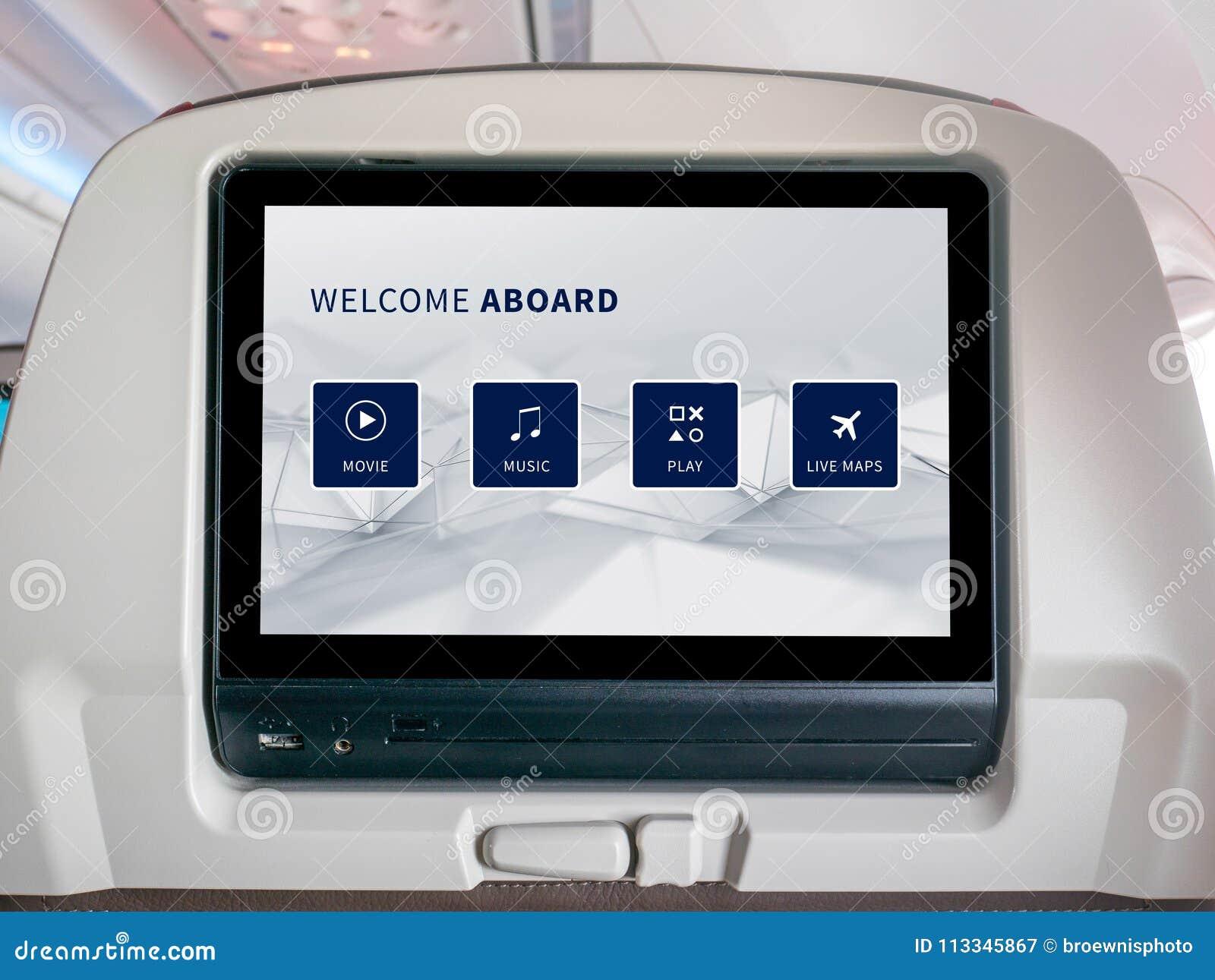Powietrzny rozrywka ekran, Seatback ekran w samolocie