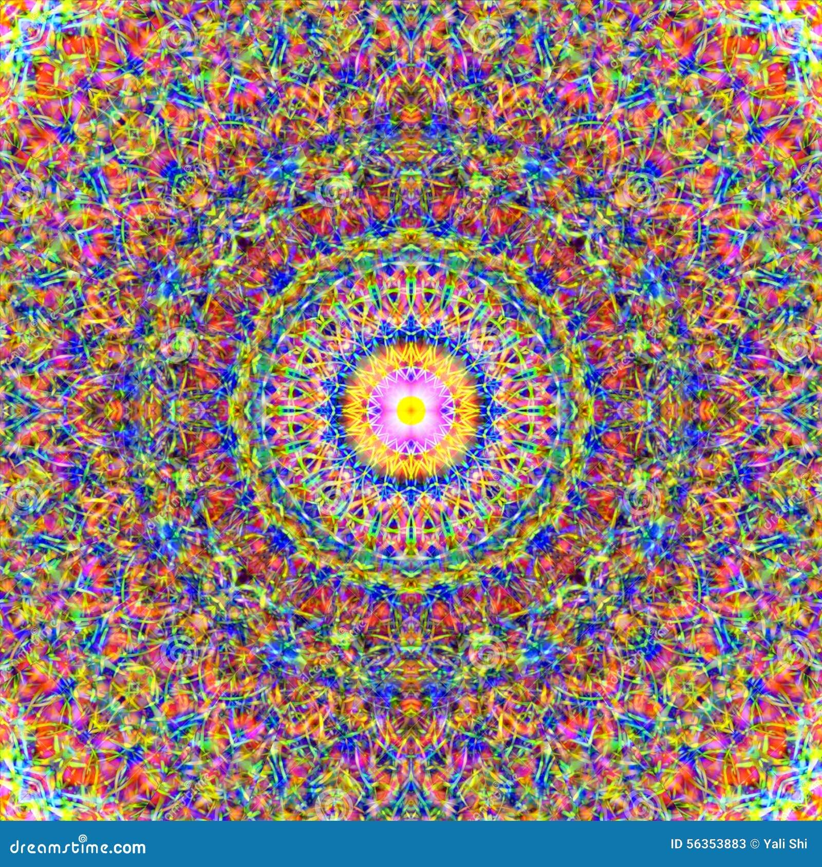 Powikłany Kolorowy mandala wzór
