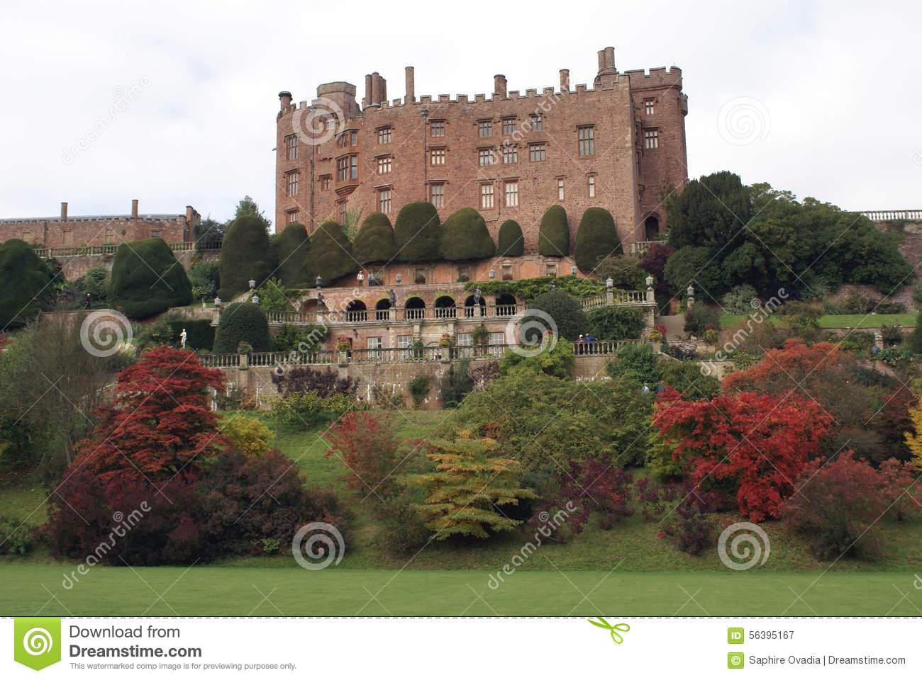 Powis Castle And Garden In Welshpool, Powys, Wales, England, Europe ...