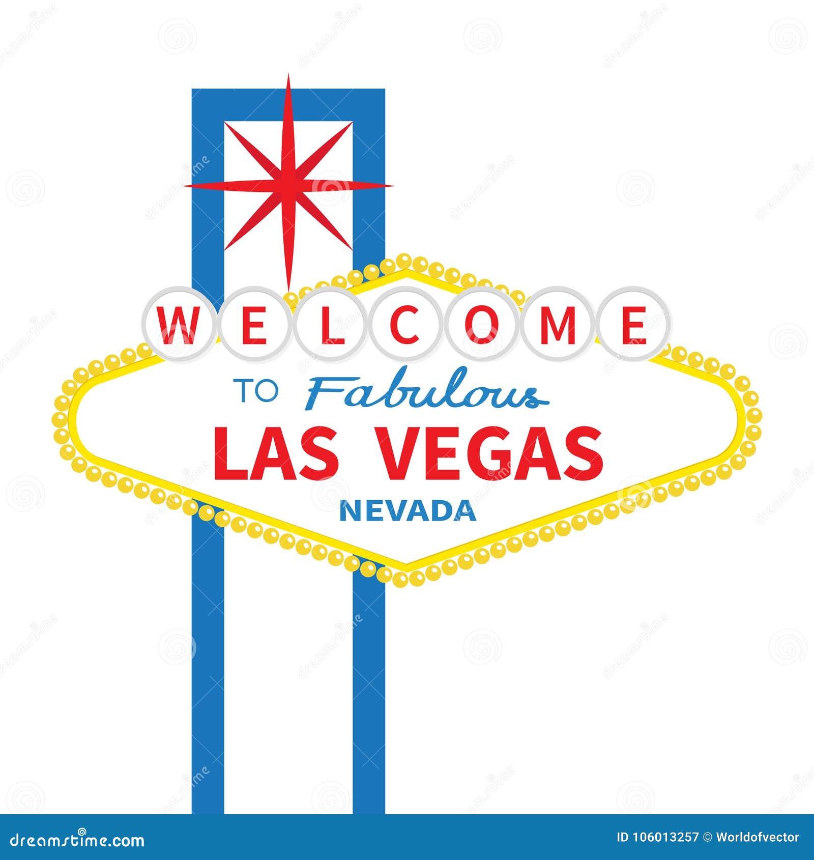Powitanie bajecznie Las Vegas znaka ikona Klasyk retro