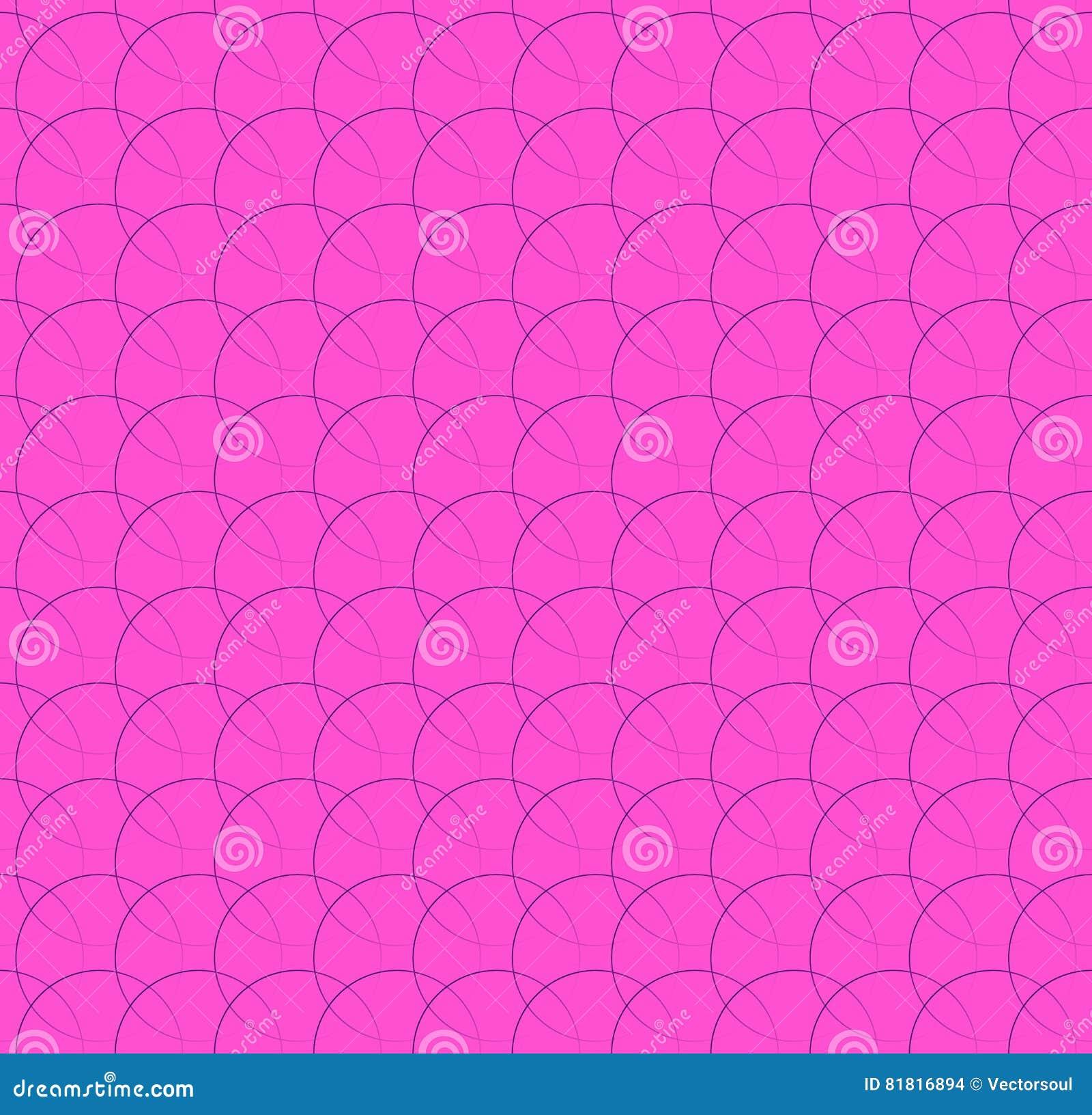 Powtarzalny wzór z łączyć okręgi, pierścionki Miarowy monoc
