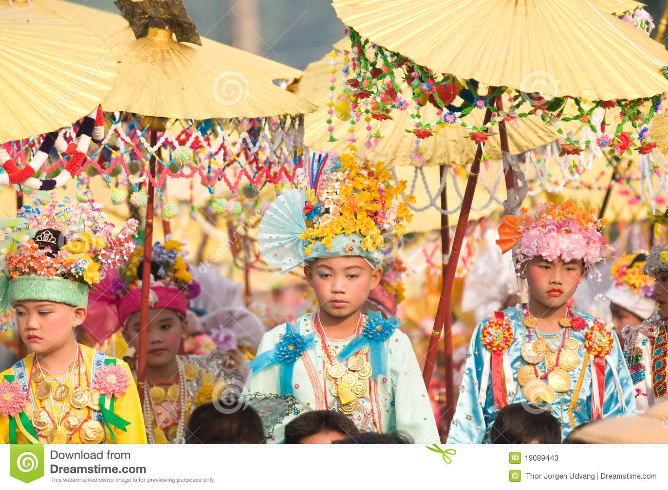 Poy Sang Long Ceremony in Mae Hong Son, Thailand