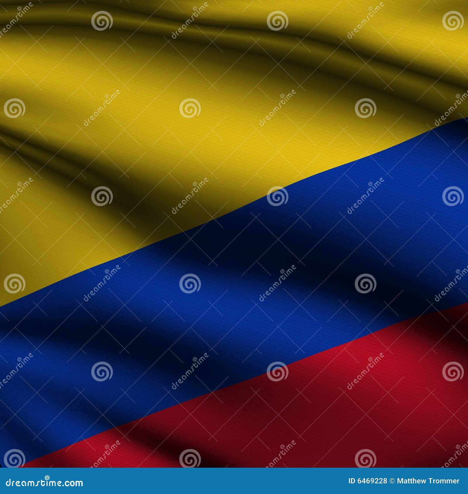 Pozbawione kolumbijska flagi wycięte