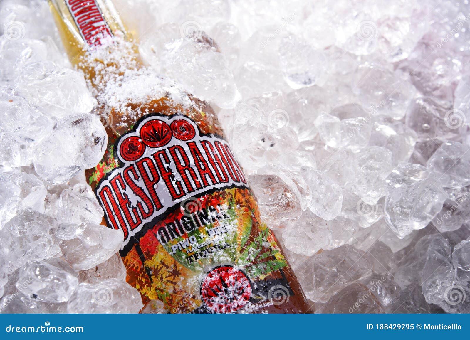 Bottles Of Desperados Beer In Crushed Ice Editorial Image Image Of Beer Label 188429295