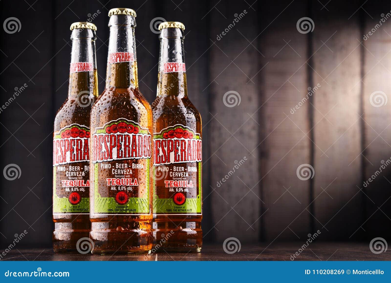 Three Bottles Of Desperados Beer Editorial Stock Image Image Of Beverage Hrvatska 110208269