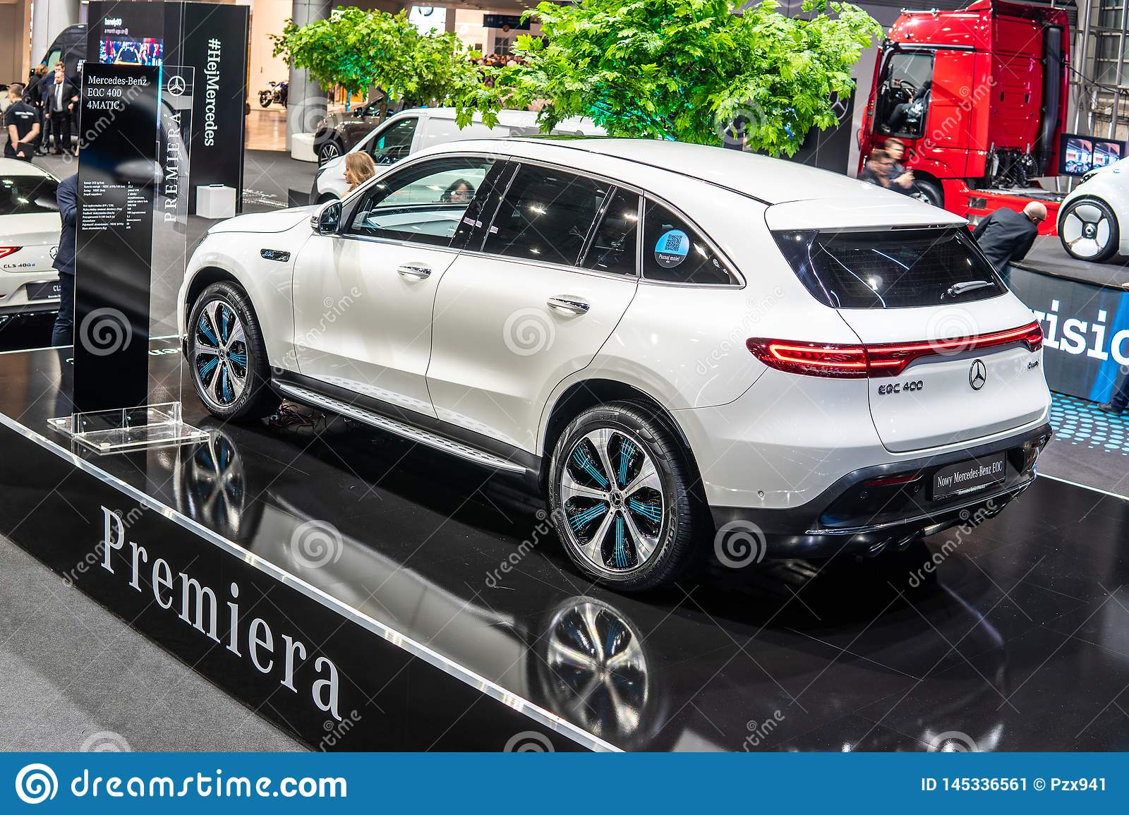 Mercedes Benz Eqc 400 4matic 300kw Suv 2019 Model Year Eq Brand Editorial Photo Image Of Motorshow Technology 145336561