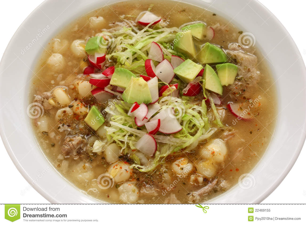 Pozole cuisine mexicaine photo libre de droits image 22469155 for Cuisine mexicaine