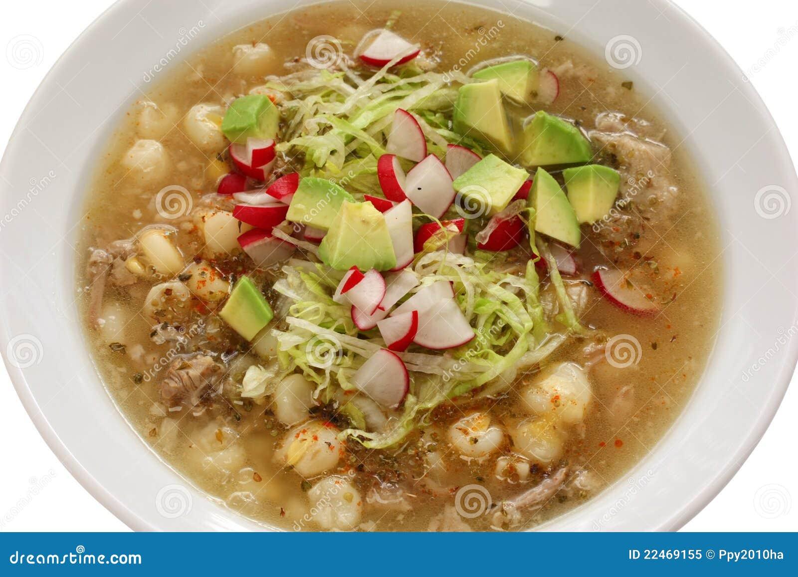 Pozole cuisine mexicaine photo libre de droits image for Cuisine mexicaine