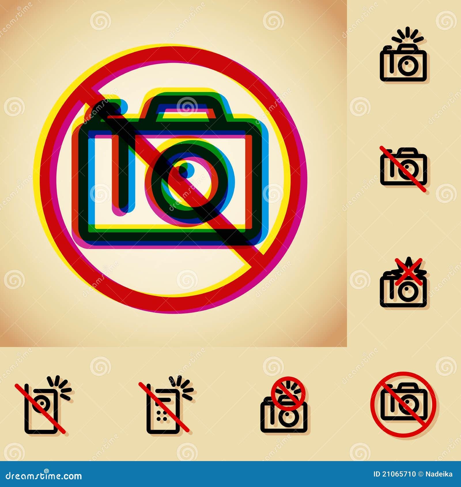 Pozwolić kamera fotografia żadny znak