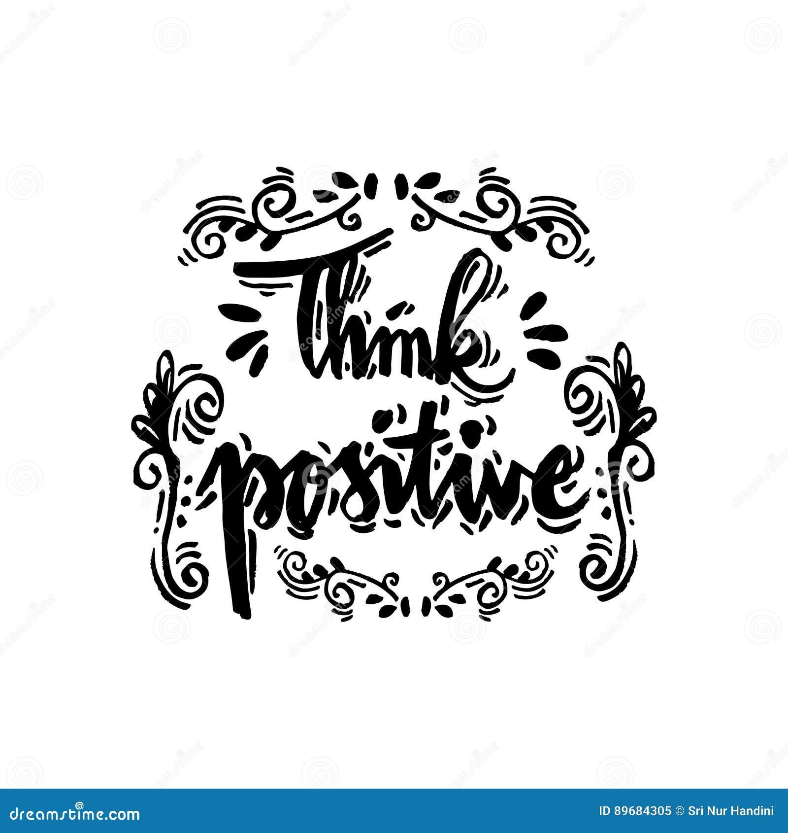 Pozytywna Myśl Ilustracji Ilustracja Złożonej Z Wyrażenie