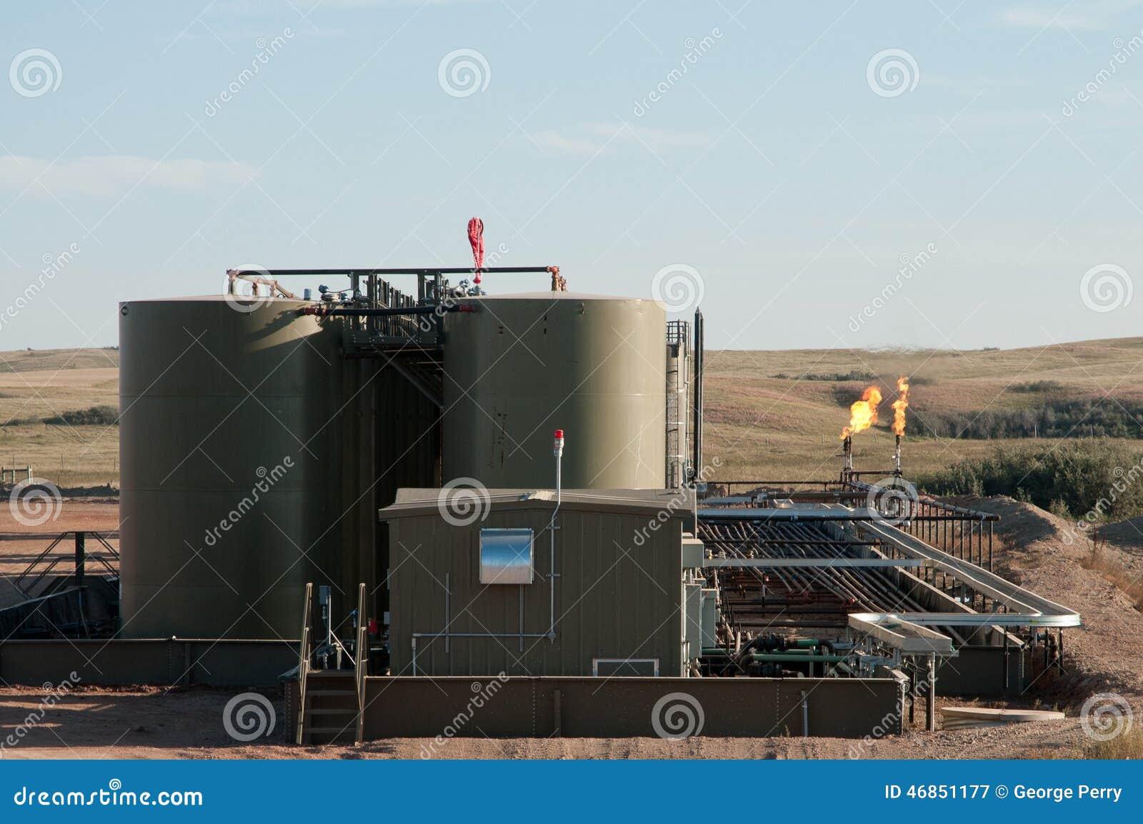 Pozzo di petrolio sul lavoro