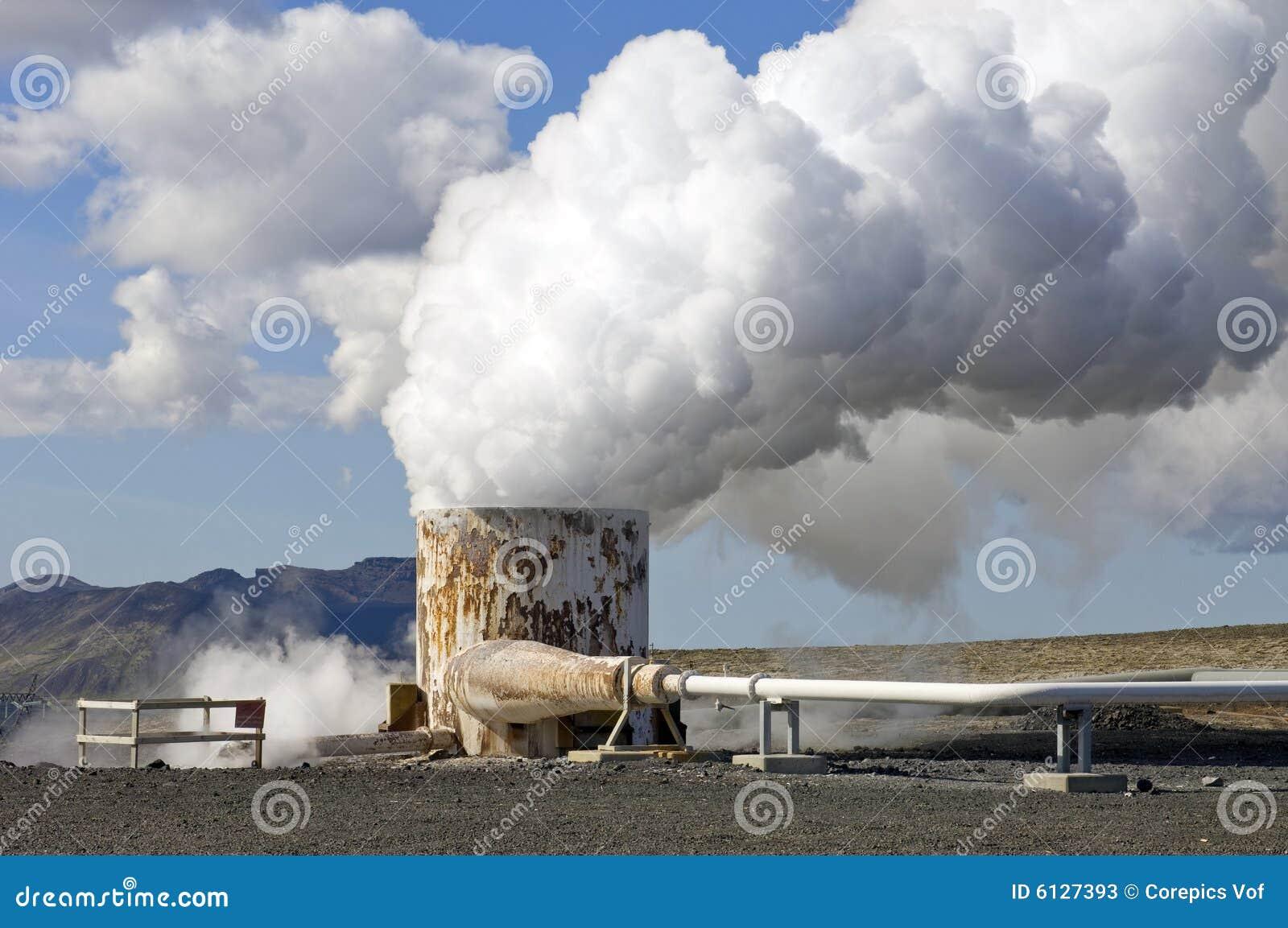 Pozzo geotermico dell 39 acqua calda immagine stock for Tubo dell acqua calda
