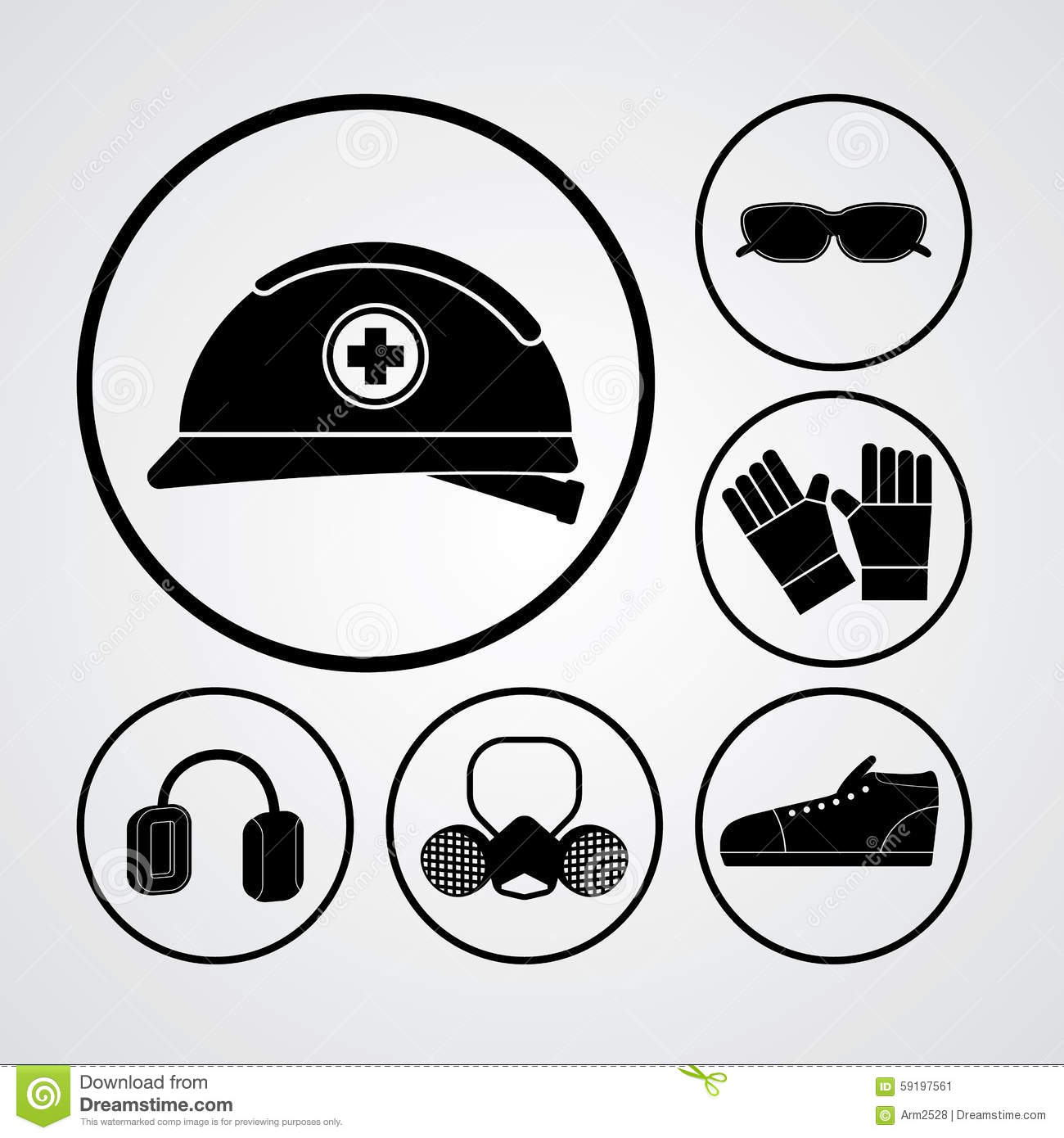 Ppe Stock Vector Image 59197561