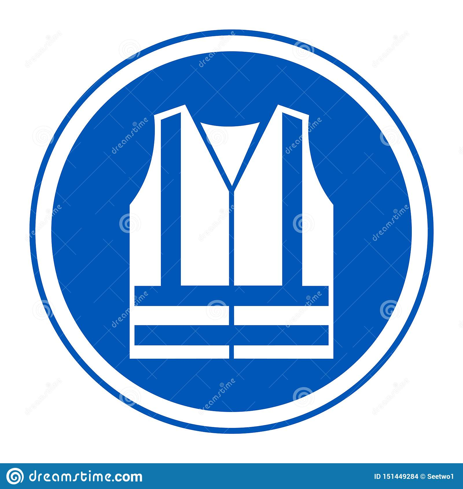 PPE Icon.Wear High Visibilty Clothing Symbol Sign Isolate On White Background,Vector Illustration EPS.10